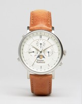 Vivienne Westwood Portland Leather Watch In Brown VV164SLTN