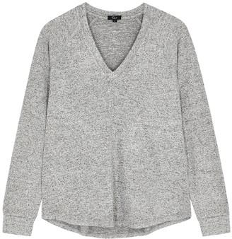 Rails Thalia Grey Melange Stretch-knit Jumper