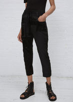 Haider Ackermann baker black / saglia black patchwork trousers