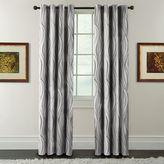 Arlee Celestina Wave Jacquard Blackout Curtain