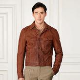 Ralph Lauren Purple Label Clifton Leather Trucker Jacket