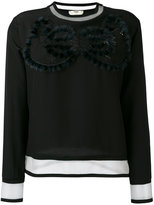 Fendi cut out sweatshirt - women - Silk/Polyamide - 40