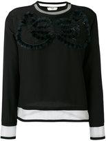 Fendi - cut out sweatshirt - women -