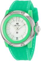 Glam Rock Women's Miami Beach 40mm Green Silicone Band Polycarbonate Case Quartz Dial Watch GR23015