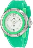 Glam Rock Women's Miami Beach 40mm Green Silicone Band Quartz Watch Gr23015