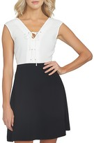 1 STATE 1.STATE Lace-Up Color Block Dress
