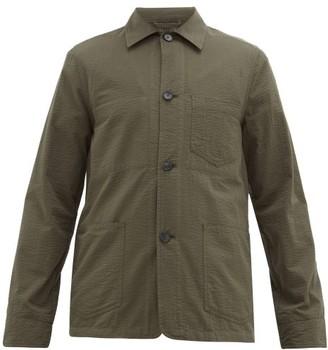 Officine Generale Chore Cotton Seersucker Overshirt - Khaki
