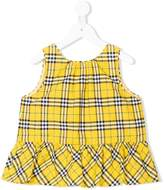 Burberry checked tunic top