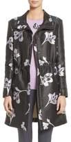 St. John Falling Flower Jacquard Coat