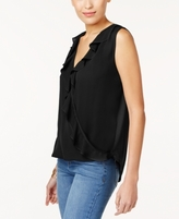 INC International Concepts Petite Ruffled Surplice Top, Created for Macy's