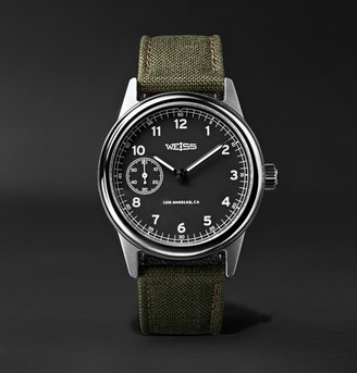 Weiss - Issue Automatic 38mm Stainless Steel and CORDURA Field Watch - Men - Black