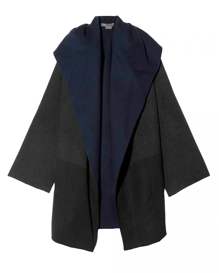 Vince Colorblock Wool Coat