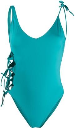 Sian Swimwear Sianita lace-up swimsuit