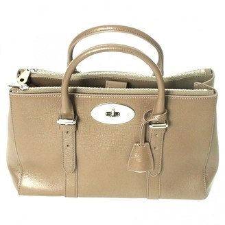Mulberry Bayswater Small Beige Leather Handbags