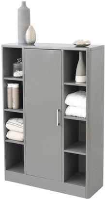 Lloyd Pascal Luna Hi-Gloss Bathroom Console Unit - Grey