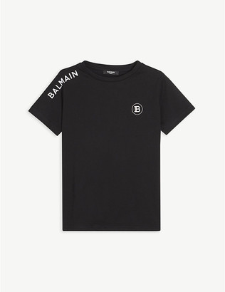 Balmain Logo-embroidered cotton-jersey T-shirt 4-16 years