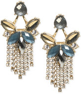 lonna & lilly Gold-Tone Stone and Fringe Chandelier Earrings