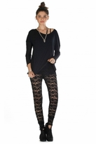 Nightcap Clothing Dixie Lace Pants in Black