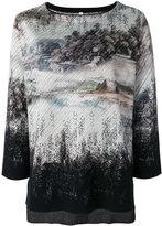 Antonio Marras gradient printed top - women - Polyester/Viscose/Virgin Wool - M