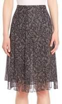 Michael Kors Frilled Silk Skirt