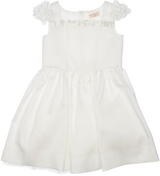 MonnaLisa DUCHESSE DRESS W/ FLOWER SLEEVES