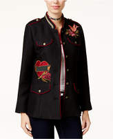 XOXO Juniors' Embroidered Military Jacket