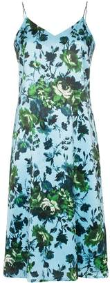 Erdem Vivianne floral print silk slip dress