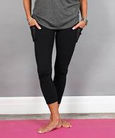 Mono B Black Pocket-Accent Yoga Pants