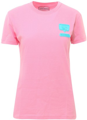 Chiara Ferragni Eyelike Logo Patch T-Shirt