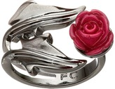 French Connection Ivy Leaf & Rose Ring