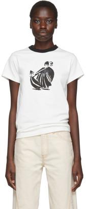 Lanvin White and Black Printed T-Shirt