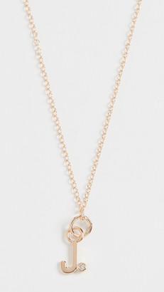 Alison Lou 14k Diamond Bezel Letter Necklace