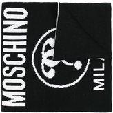 Moschino logo intarsia scarf