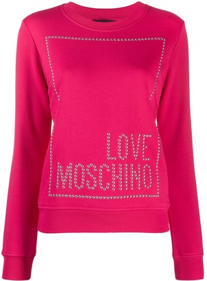 Love Moschino Studded Logo Sweatshirt