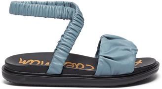 Sam Edelman Velma' Ruch Panel Elastic Ankle Strap Leather Sandals