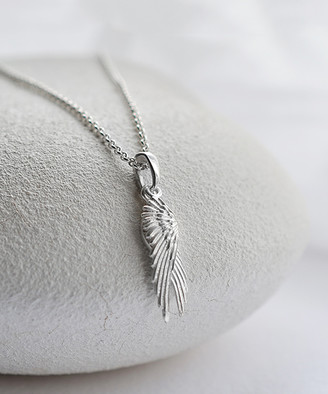 Martha Jackson Women's Necklaces silver - Sterling Silver Angel Wings Pendant Necklace