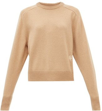 Chloé Festive Monogram-embroidered Cashmere Sweater - Womens - Camel