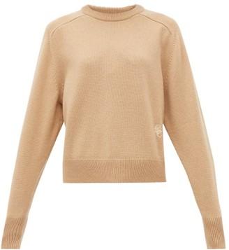 Chloé Festive Monogram-embroidered Cashmere Sweater - Womens - Camel