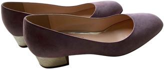 Rupert Sanderson Purple Velvet Ballet flats