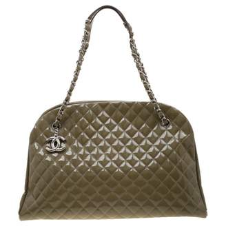 Chanel Green Patent leather Handbags