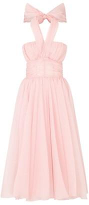 Dolce & Gabbana Silk Halterneck Dress