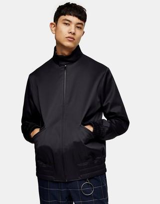 Topman smart harrington jacket in navy