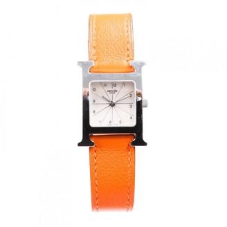 Hermes Heure H Brown Steel Watches