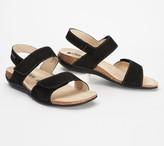 Mephisto Leather Adjustable Back-Strap Sandals - Agave