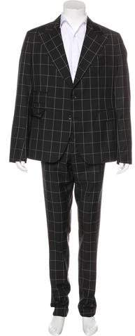 Dolce & Gabbana Check Wool Suit