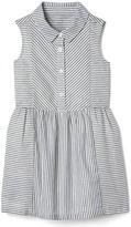 Gap Shimmer stripe sleeveless shirtdress