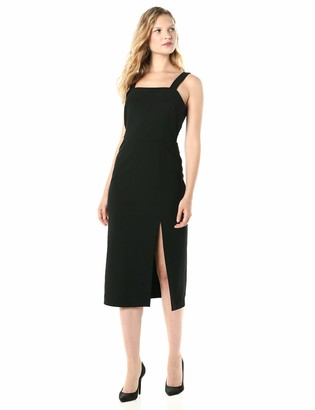 Finders Keepers findersKEEPERS Women's Palermo Sleeveless MIDI Sheath Dress with Slit