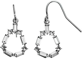 Brilliance+ Brilliance Open Baguette Cut Drop Earrings with Swarovski Crystals
