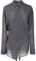 Alexander Wang checked wrap-style shirt