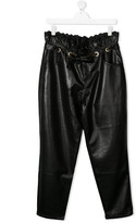 Philosophy di Lorenzo Serafini Kids TEEN faux-leather tapered trousers